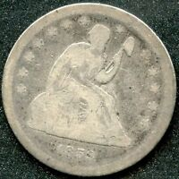 1859 G 25C SILVER SEATED LIBERTY QUARTER