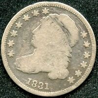 1831 G 10C SILVER CAPPED BUST DIME
