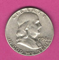1958 U.S. FRANKLIN HALF DOLLAR   SILVER   IN CIRCULATED CONDITION