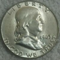 1963 D 50C FRANKLIN HALF DOLLAR 90 SILVER U.S. COIN.  LOOK