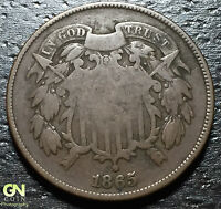 1865 2 CENT PIECE      MAKE US AN OFFER  W3065 ZXCV
