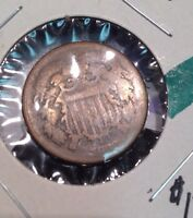 1868  TWO CENT PIECE ALL MAJOR DETAILS VISIBLE GREAT CONVO PIECE CHEEP