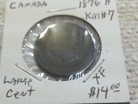 1876 H CANADA ONE  LARGE CENT QUEEN VICTORIA KM7 1502124