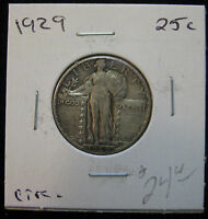 1929 25C STANDING LIBERTY QUARTER. DEPRESSION ERA DATE.   716003