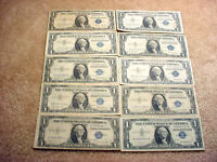 10 1935 & 1957 SERIES US SILVER CERTIFICATES  14
