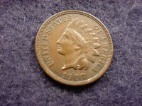 1907 INDIAN HEAD CENT OUTSTANDING AU COIN  29