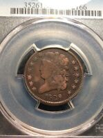 1828 CLASSIC HEAD 1/2 CENT   COHEN 3 13 STARS F DETAILS CLEANING  INV3383