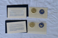 1972S 1973 S EISENHOWER UNCIRCULATED US MINT COINS 40 SILVER DOLLAR BLUE SEALED