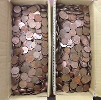 10 POUNDS OF CANADIAN PENNIES 1 CENT FROM 1965 1996 .980 PURE COPPER BULLION