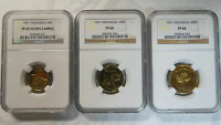 INDONESIA 1991 PROOF SET 50 100 500RUPIAH NGC PF65 66 ONLY 1SET GRADED