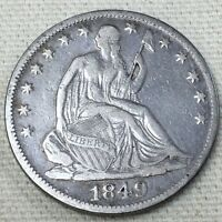 1849 O SEATED LIBERTY HALF DOLLAR 50C REPUNCHED DATE? @2161