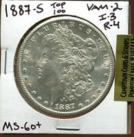 1887-S $1 VAM 2 S/S MORGAN SILVER DOLLAR I-3 R-4 TOP 100 VAM