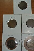 FIVE  TWO CENT COINS TWO 1864,TWO 1865 AND R 1870 LOW MINTAGE