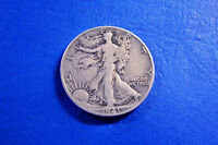 1941 D SILVER WALKING LIBERTY HALF DOLLAR IN LEGIBLE & FINE CONDITION