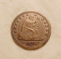 1876 CC LIBERTY SEATED QUARTER   BETTER DATE   NICE LOOKING COIN