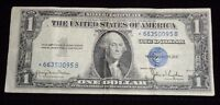 1935 SERIES D REPLACEMENT OFF CUT 1 ONE DOLLAR SILVER CERTIFICATE BLUE SEAL NOTE
