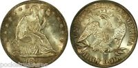ORIGNAL LUSTROUS PCGS 1891 MS63 50C SEATED LIBERTY HALF WITH ATTRACTIVE TONING