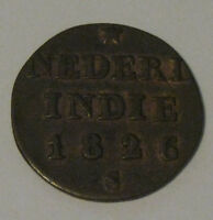 NETHERLANDS EAST INDIES SUMATRA   1826 S 1/4 STUIVER   NICE COIN
