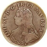 L1676  LOUIS XV CU RAM OLIVIERS 1731 L BAYONNE ARGENT SILVER   F OFFRE