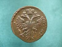 COPPER COIN DENGA 1730.  TYPE OF AN EAGLE