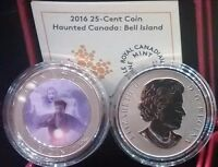 2016 HAUNTED CANADA BELL ISLAND HAG 25CENT LENTICULAR COIN IN BOX CLAMSHELL CASE