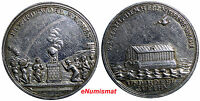 GERMANY SILESIA  SILVER MEDAL 1736   END OF FAMINE.ENDE HUNGER.9.44 G. 31 MM