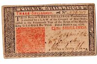 COLONIAL CURRENCY NEW JERSEY 1776