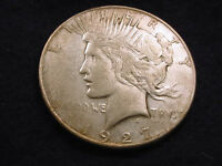1927 S PEACE DOLLAR EXCELLENT KEY DATE COIN   40