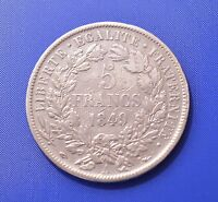 FRANCE  5 FRANCS 1849 A SILVER COIN   24.8G                       [6862]