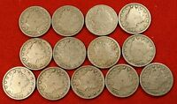 1900-1912 LIBERTY V NICKEL G FULL RIMS COLLECTOR 13 COINS  QUALITY LN562