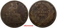 MEXICO CHIHUAHUA COPPER 1860 1/4 REAL  CHOICE VF 1ST DATE FOR TYPE KM 344