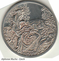 THE FAMOUS ARTISTIC COIN FROM ALPHONSE MUCHA [CZECH ARTIST 1860 1939]