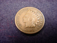 1907 INDIAN HEAD CENT GREAT FINE COIN  5