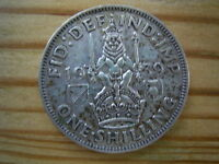 1939  GEORGE V1 SCOTTISH SILVER  SHILLING COLLECTABLE
