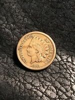 1861 INDIAN HEAD CENT   F/VF   INV3842
