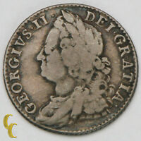 1747 GREAT BRITAIN SHILLING  F   ENGLAND SILVER COIN KM 583.1