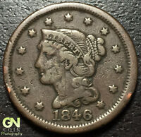 1846 BRAIDED HAIR LARGE CENT     MAKE US AN OFFER  O2125