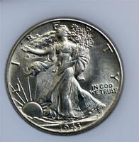 1943 LIBERTY WALKING HALF DOLLAR