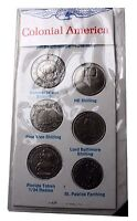 1616 1688 COLONIAL AMERICAN SELECTION OF COINS FIRST COINAGE