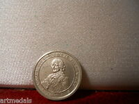 SMALL SILVER MEDAL FRENCH KING LOUIS XV 1723 1774