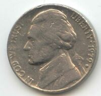 USA 1979D AMERICAN NICKEL FIVE CENT PIECE 5C 5 CENTS JEFFERSON 1979 D EXACT COIN