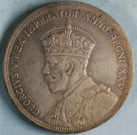 1935 CANADA $1 ONE DOLLAR SILVER COIN   KING GEORGE V   COMBINED SHIPPING.
