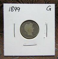 COIN FOR 1899 BARBER DIME