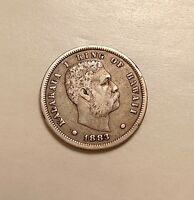1883 HAWAII DIME   BETTER DATE   ONE YEAR TYPE   NICE LOOKING COIN