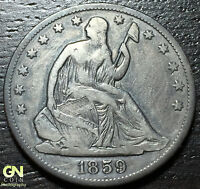 1859 O SEATED LIBERTY HALF DOLLAR      MAKE US AN OFFER  W3192 ZXCV