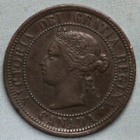 1876 CANADA BRONZE LARGE CENT   COMBINED S.& H.