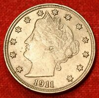 1911 LIBERTY NICKEL AU BEAUTIFUL COIN CHECK OUT STORE LN548