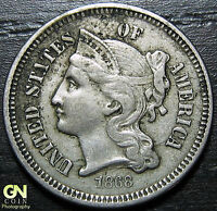 1868 3 CENT NICKEL PIECE      MAKE US AN OFFER  O2398