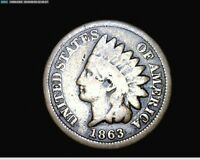 1863 COPPER NICKEL INDIAN HEAD SMALL CENT PENNY 1736