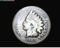 1863 COPPER NICKEL INDIAN HEAD SMALL CENT PENNY 1737